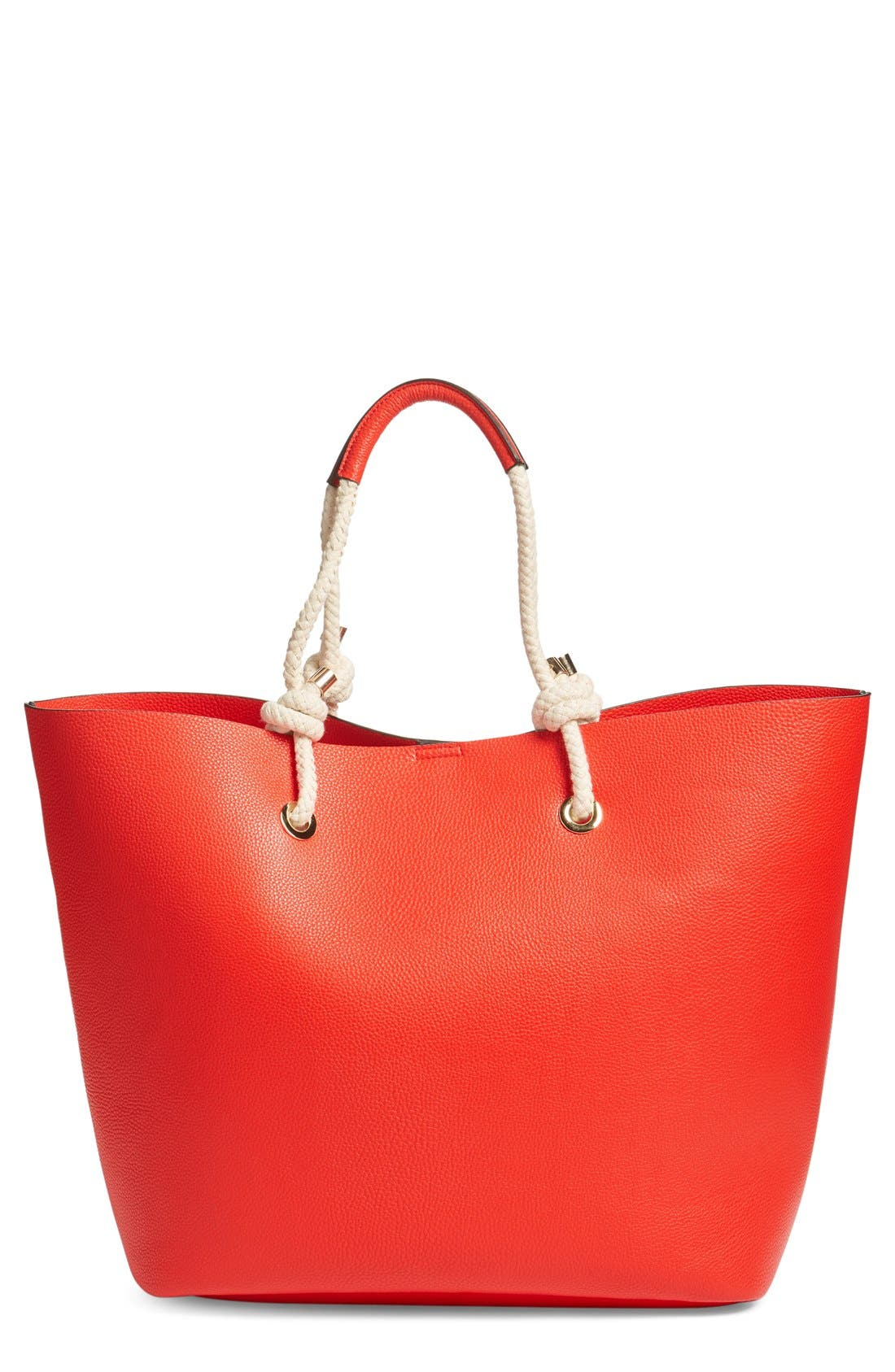 Phase 3 Rope Handle Faux Leather Tote
