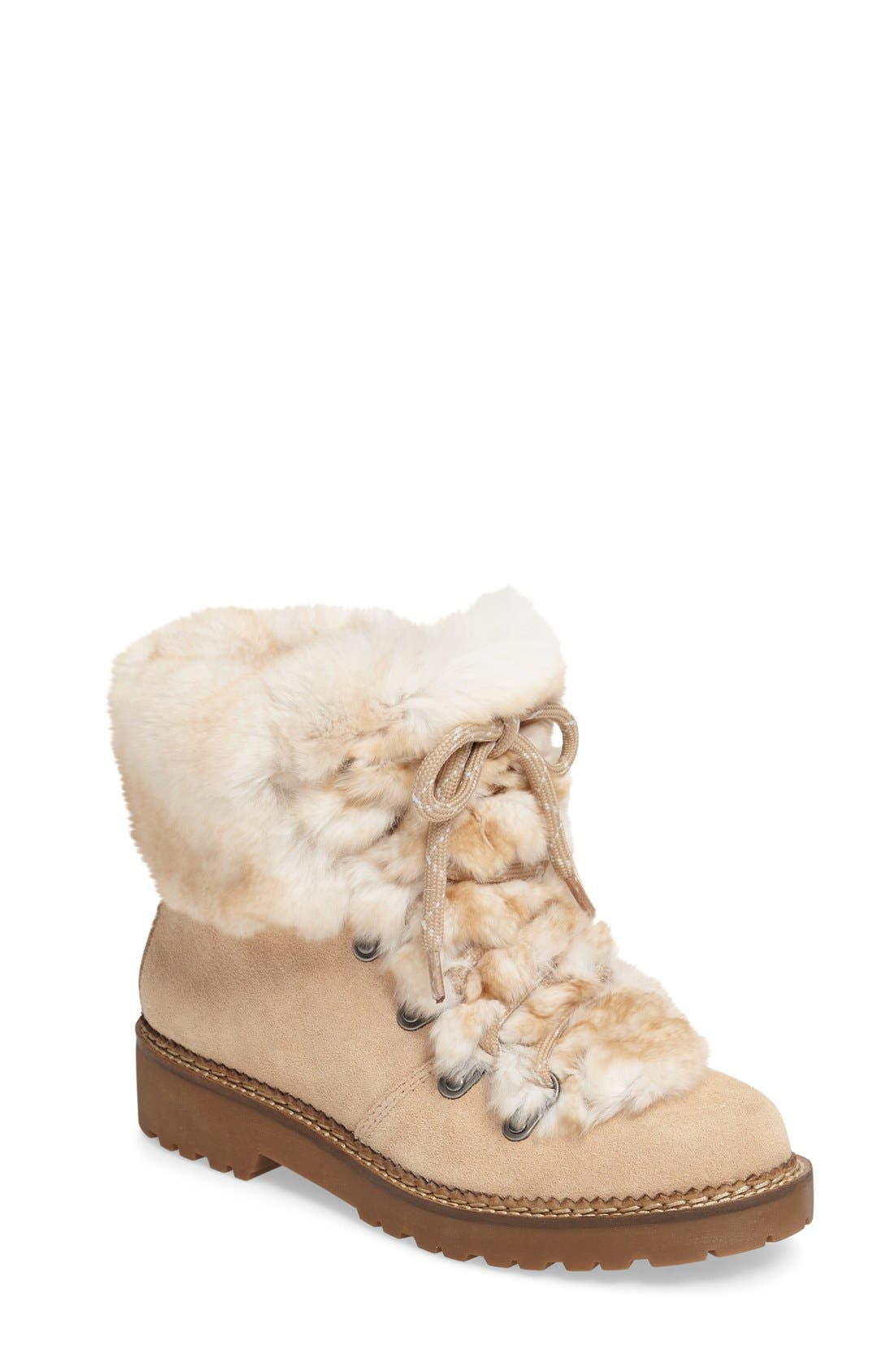 Alternate Image 1 Selected - Arturo Chiang 'Philippa' Genuine Rabbit Fur Hiking Boot (Women)