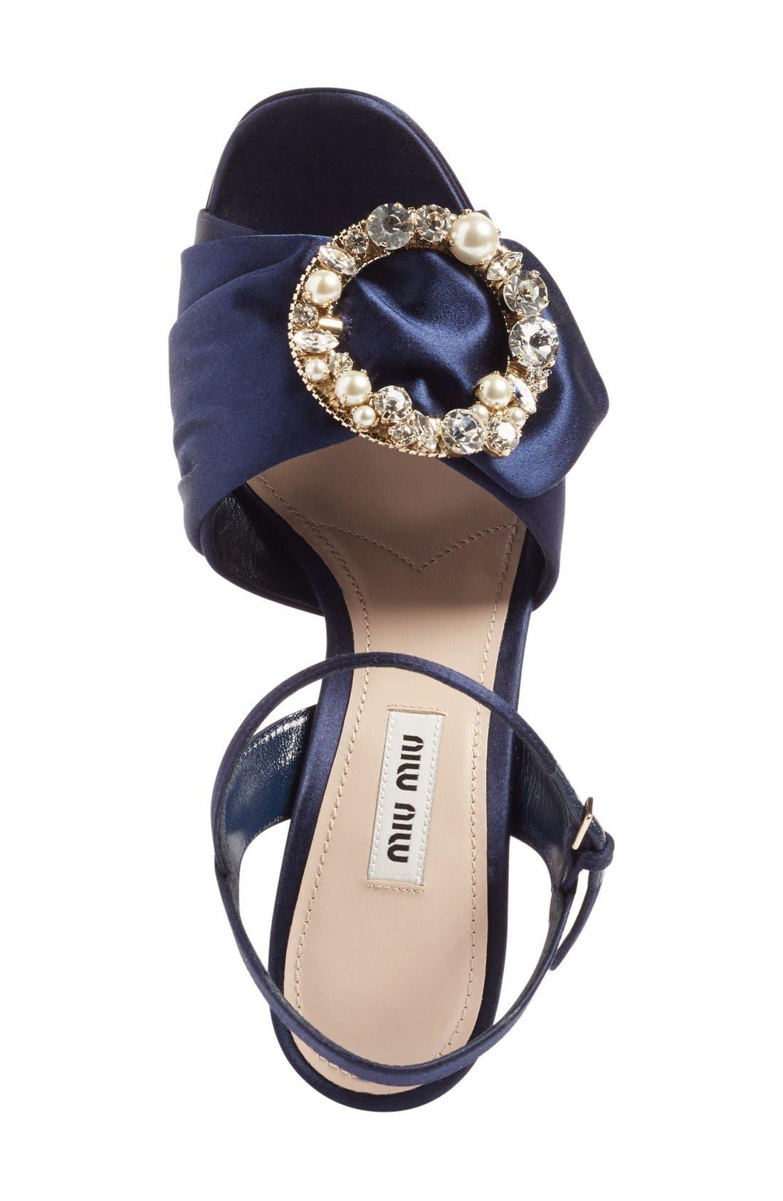 Alternate Image 3  - Miu Miu Embellished Buckle Platform Sandal (Women)