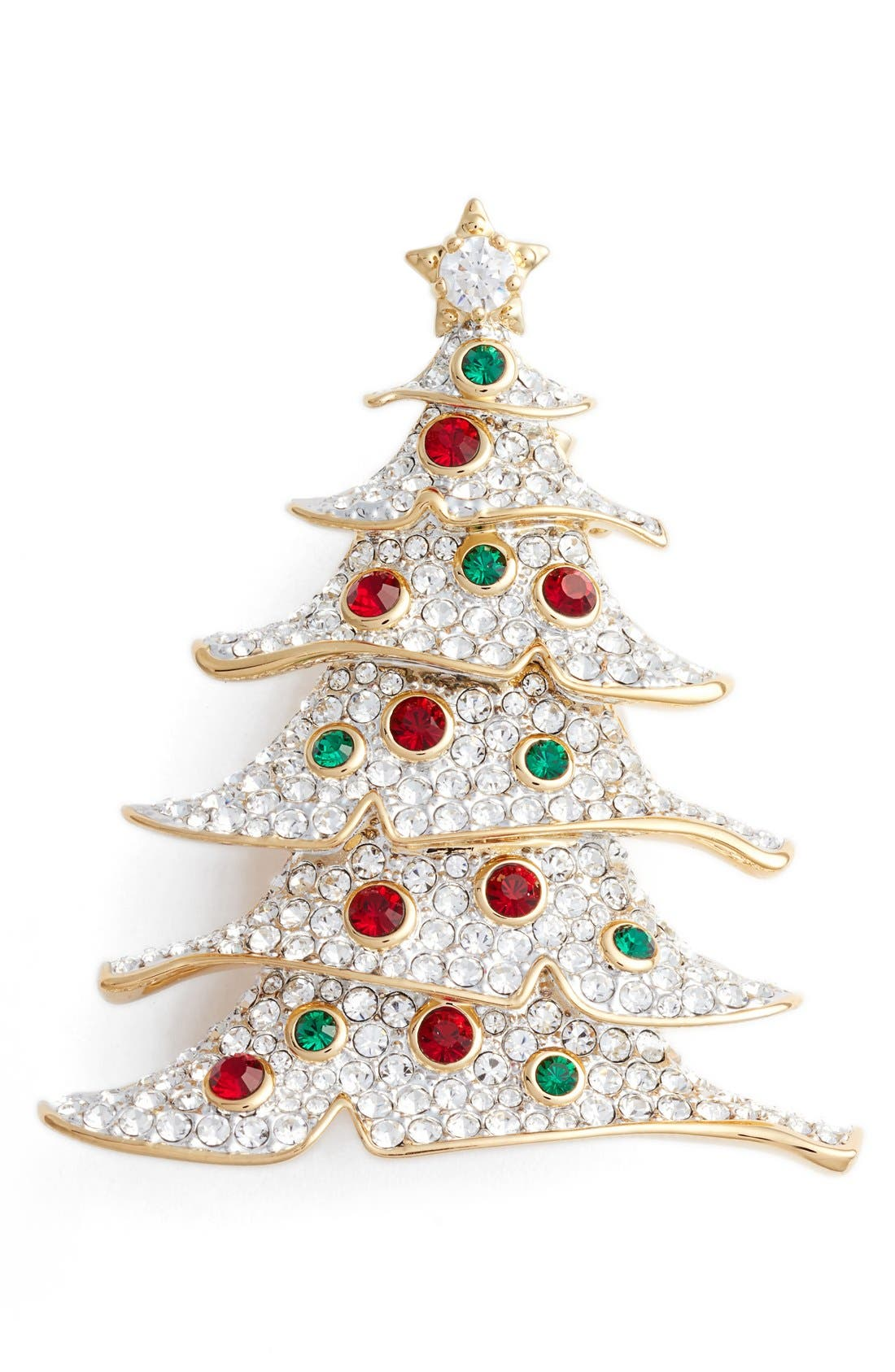 Alternate Image 1 Selected - Nadri Jolly Christmas Tree Pin
