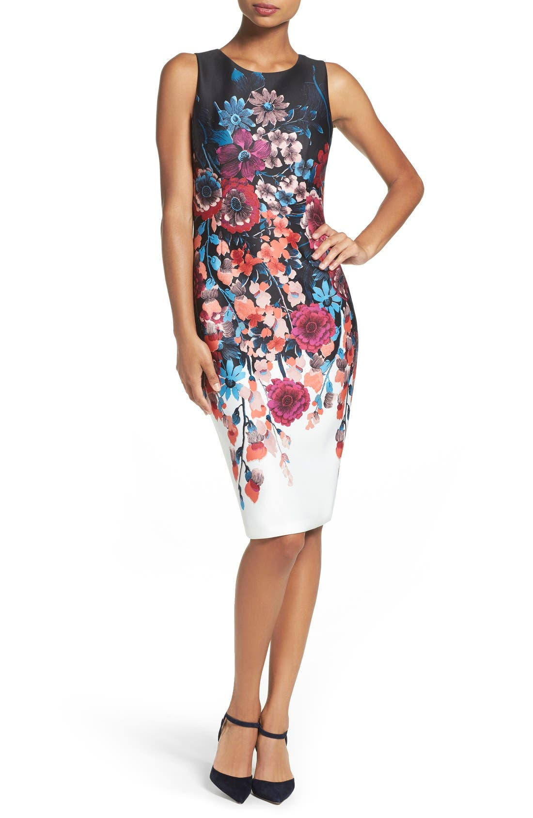 Main Image - Adrianna Papell Scuba Midi Dress