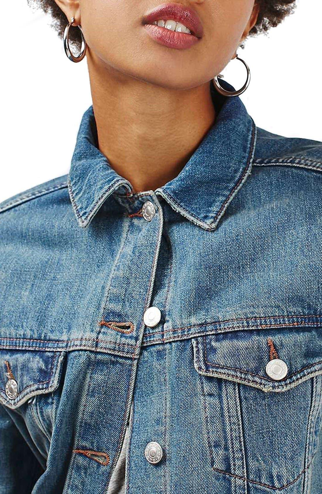 Alternate Image 5  - Topshop Moto Western Denim Jacket
