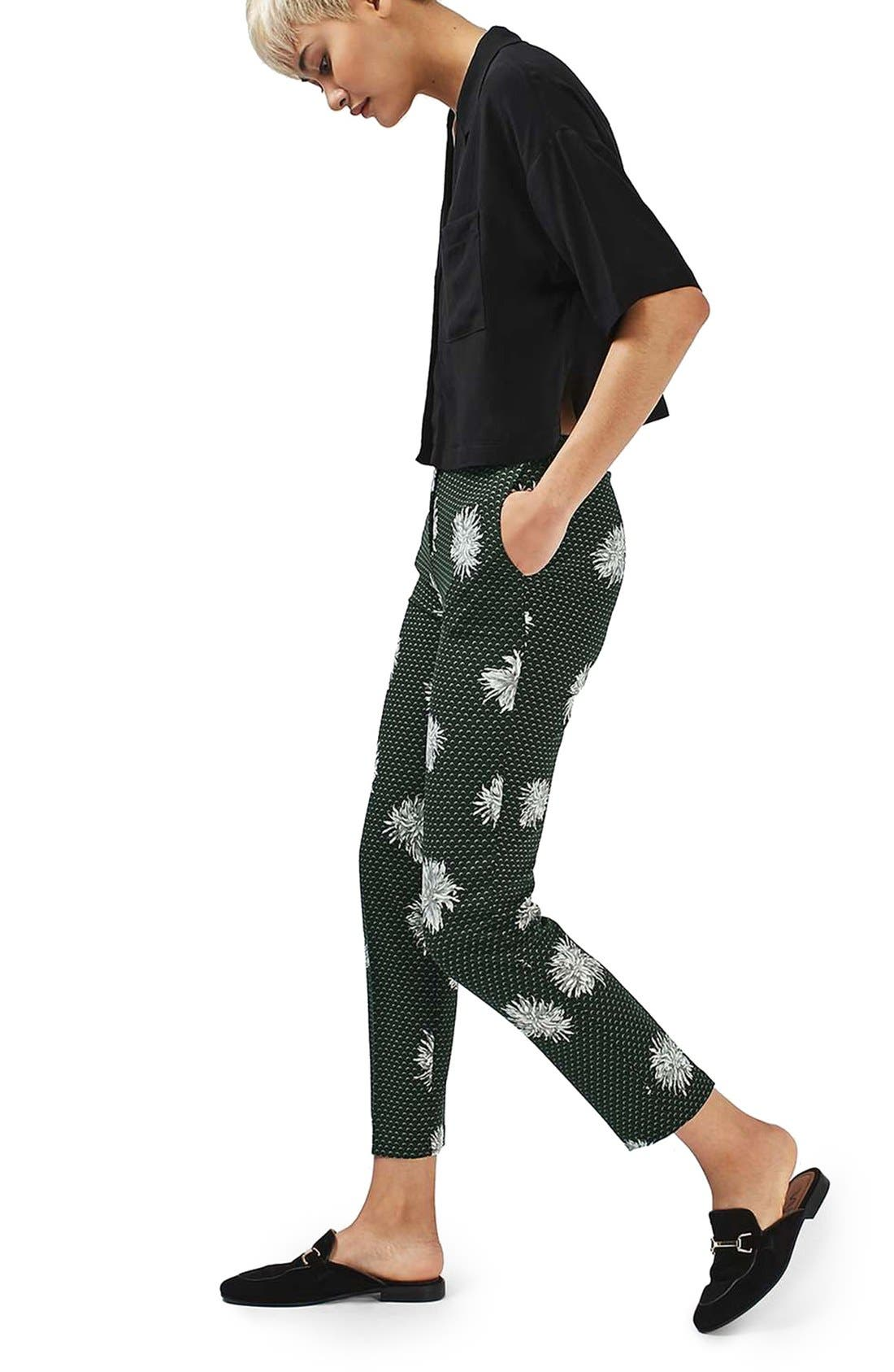 Alternate Image 2  - Topshop Floral Spot Pants