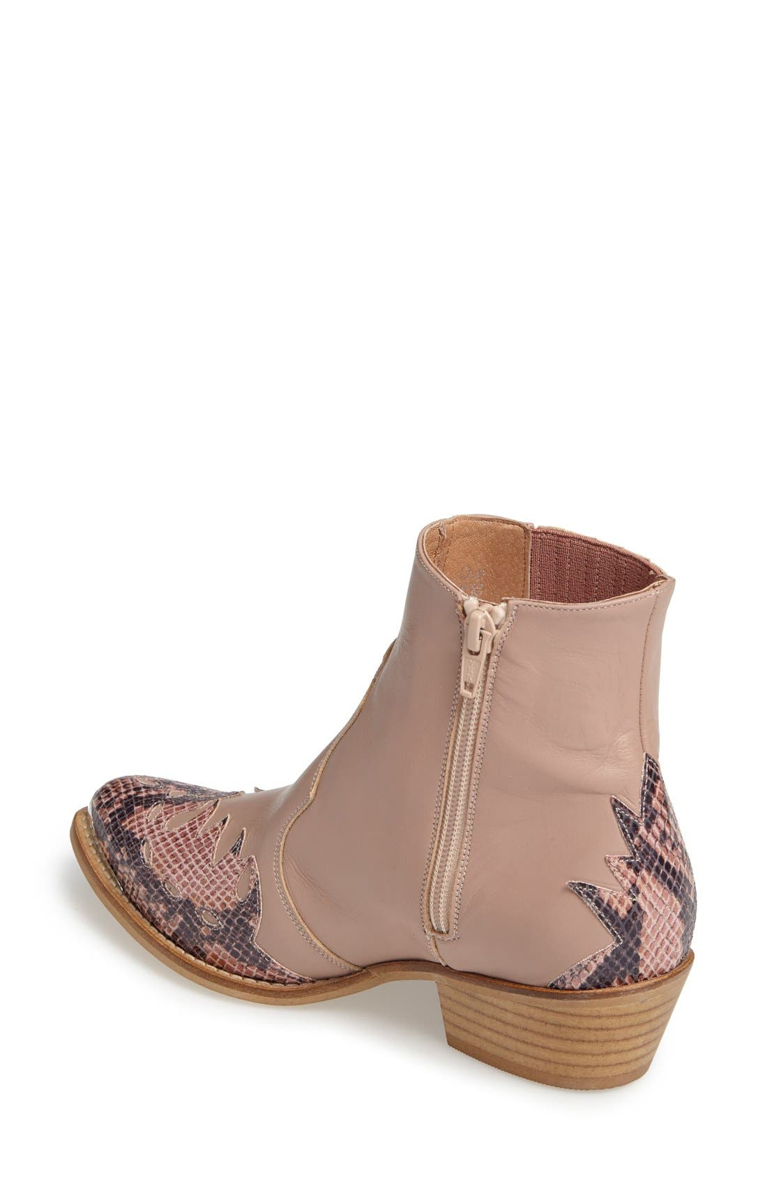 Alternate Image 2  - Topshop 'Arson' Western Ankle Boots (Women)