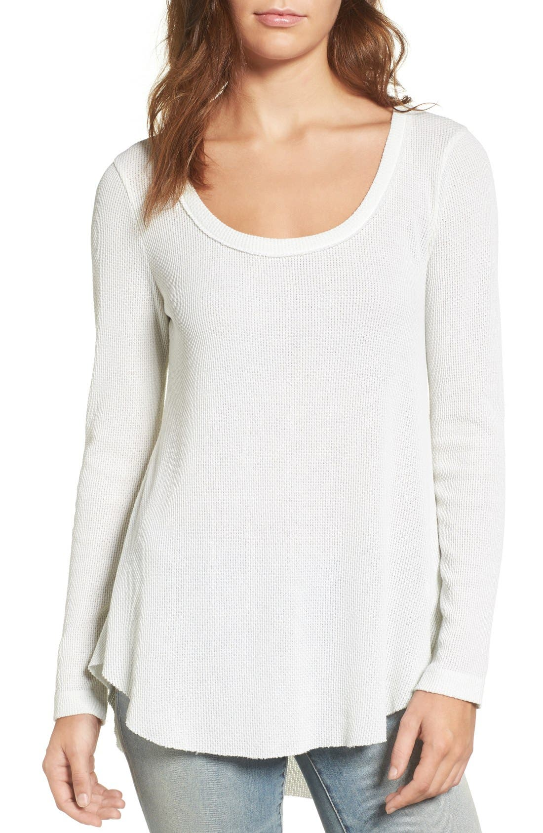 Alternate Image 1 Selected - Hinge Shirred Back Thermal Tee