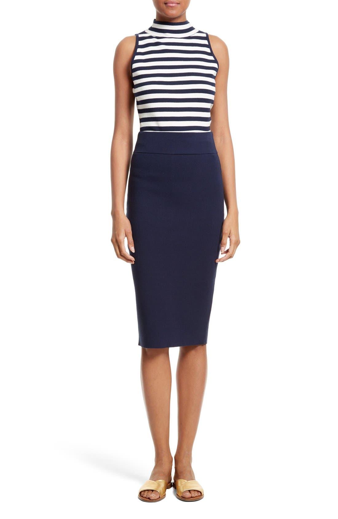 Alternate Image 2  - Milly Stretch Knit Pencil Skirt