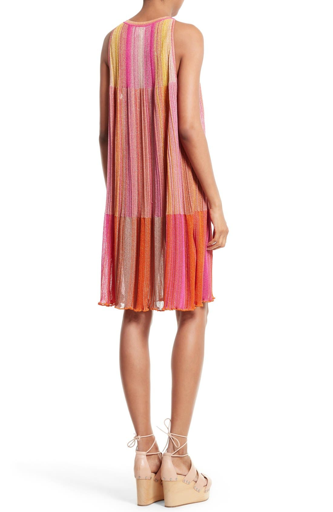 Alternate Image 2  - M Missoni Plissé Metallic Knit Shift Dress