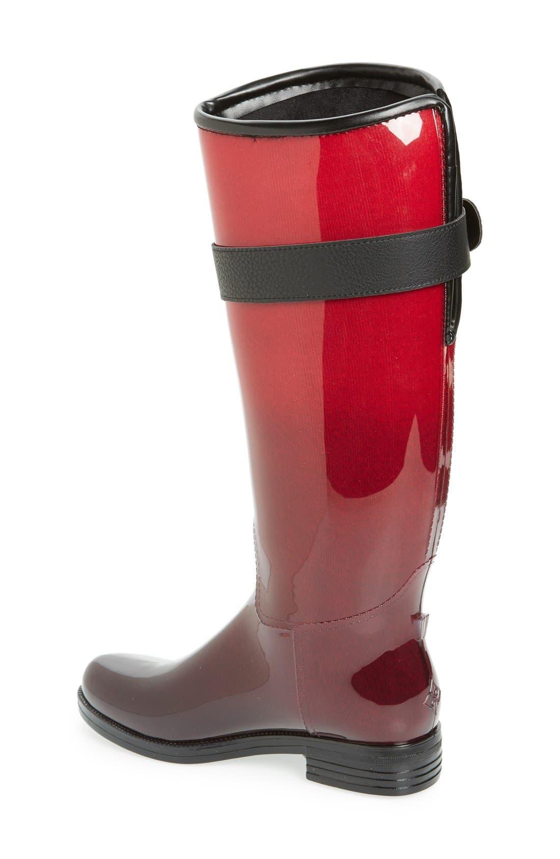 Alternate Image 2  - däv 'Bristol' Weatherproof Knee High Rain Boot (Women)