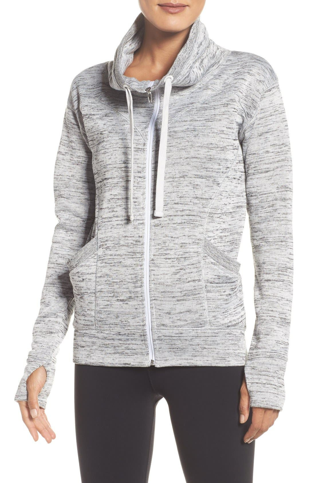Main Image - Zella Cozy to the Core Sweater Jacket