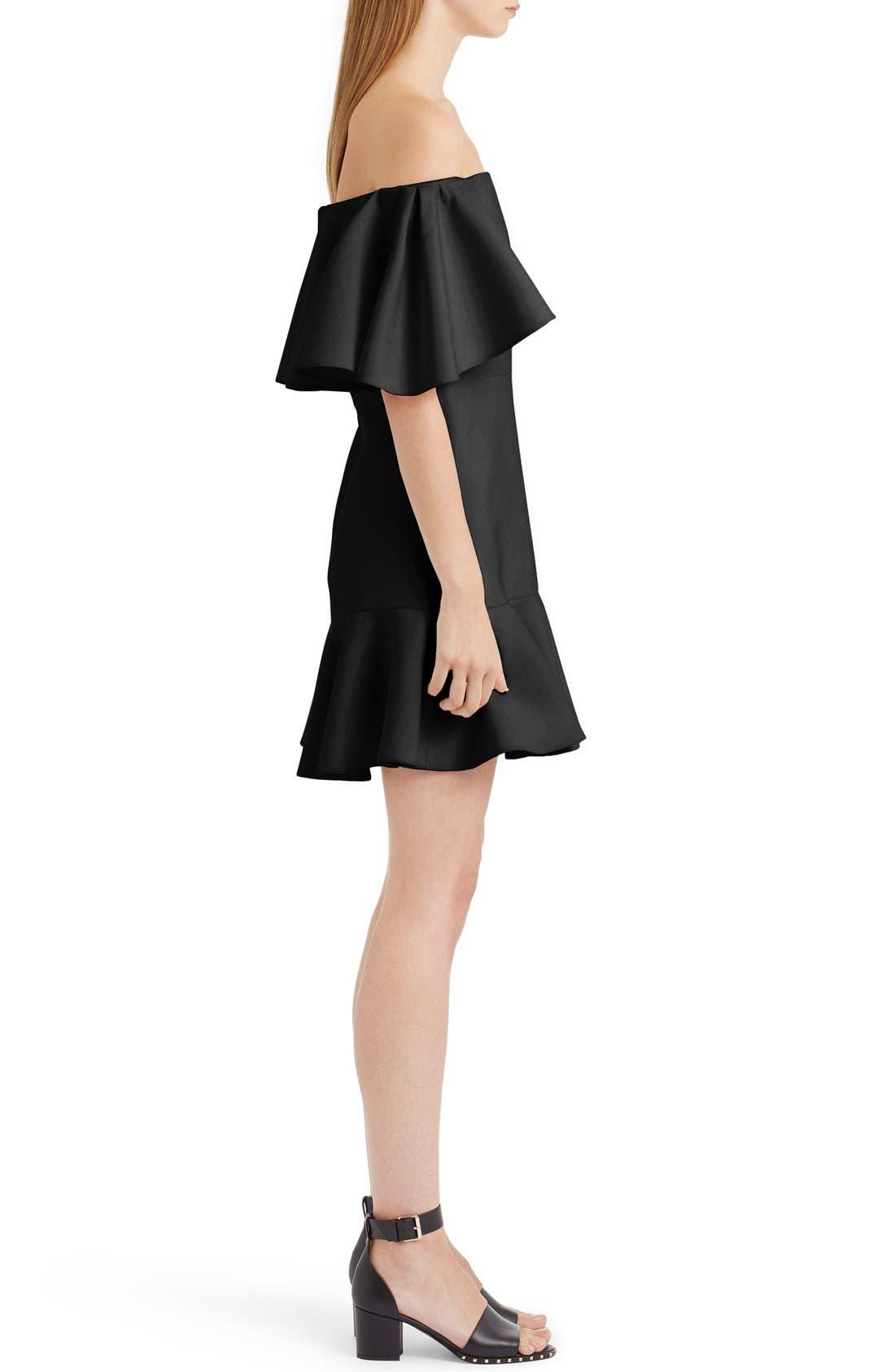 Alternate Image 4  - Valentino Flutter Hem Off the Shoulder Dress