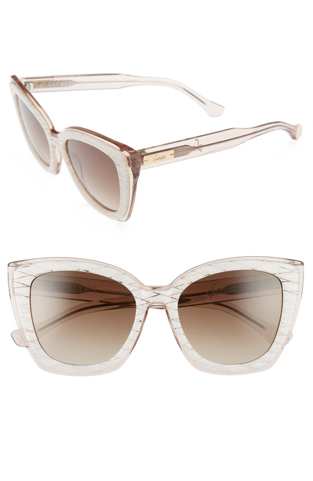 Sonix Lafayette 53mm Gradient Cat Eye Sunglasses