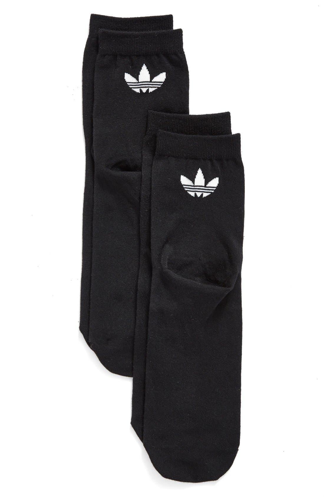 Alternate Image 1 Selected - adidas Trefoil 2-Pack Socks
