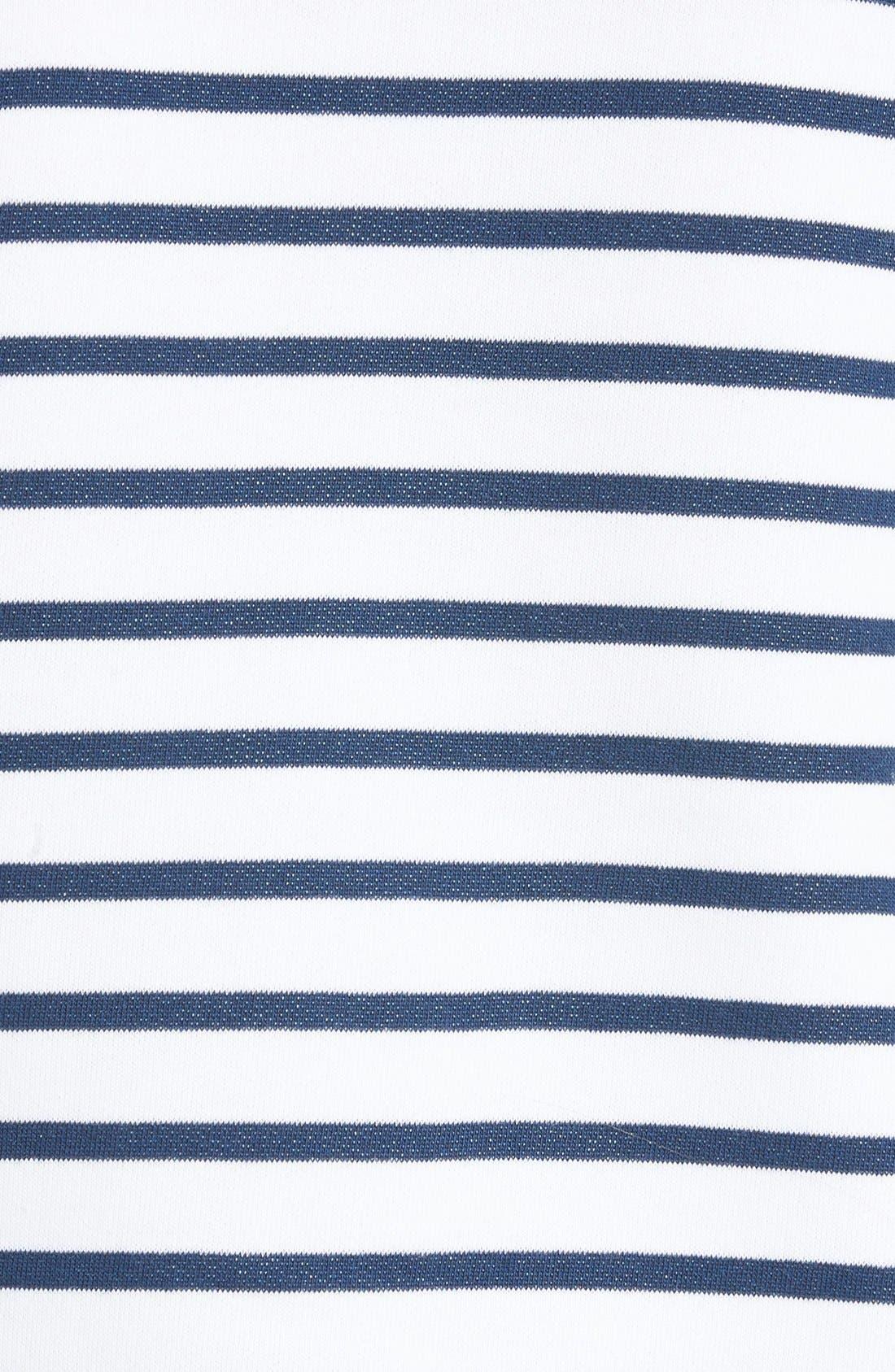 Alternate Image 5  - être cécile Sunny Side Up Stripe Graphic Sweatshirt