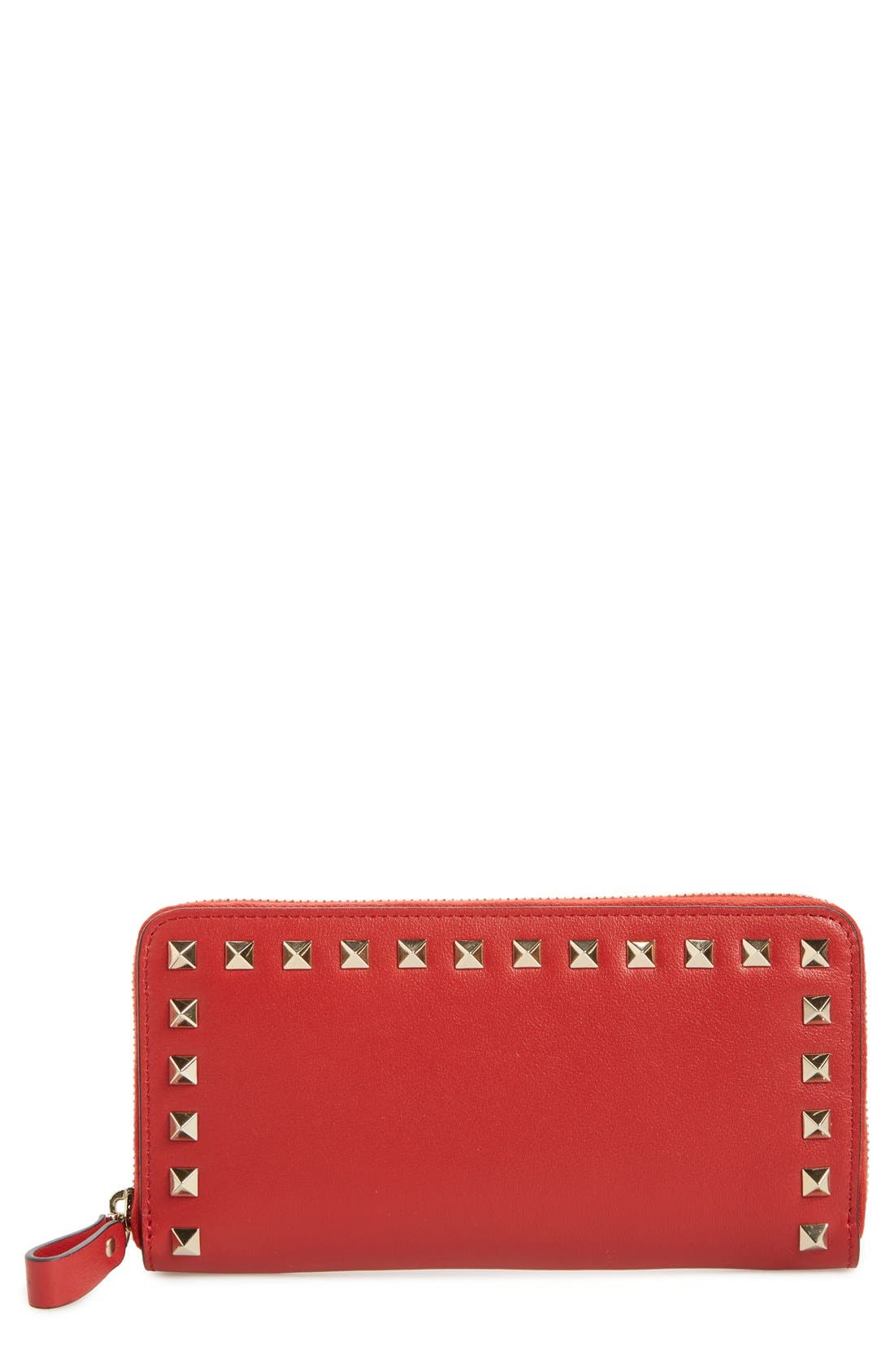 VALENTINO GARAVANI Rockstud Continental Leather Wallet