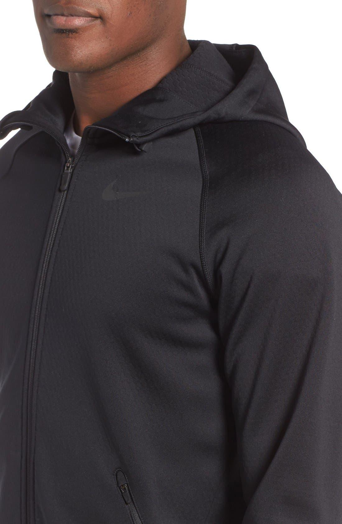 Alternate Image 4  - Nike Therma-Sphere Hooded Zip Jacket
