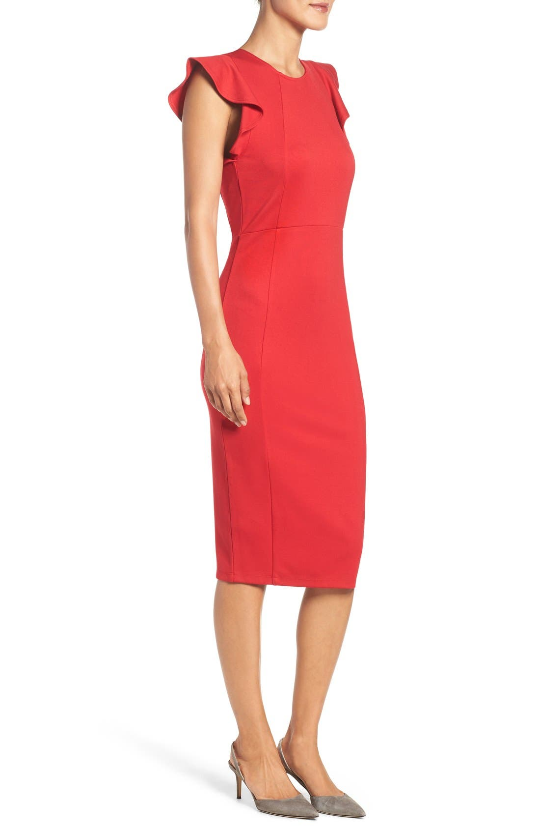 Alternate Image 3  - Felicity & Coco Ruffle Sheath Dress (Nordstrom Exclusive)