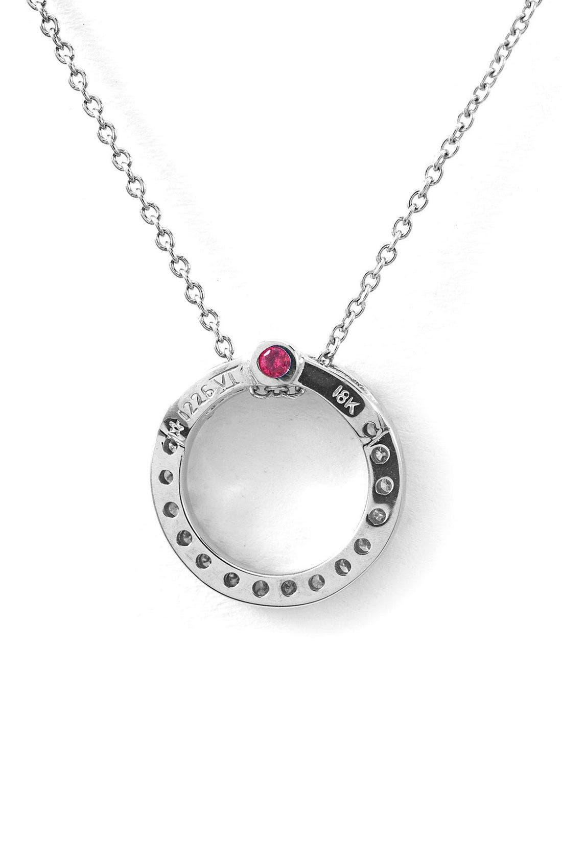Alternate Image 2  - Roberto Coin 'Tiny Treasures' Small Diamond Circle Pendant Necklace
