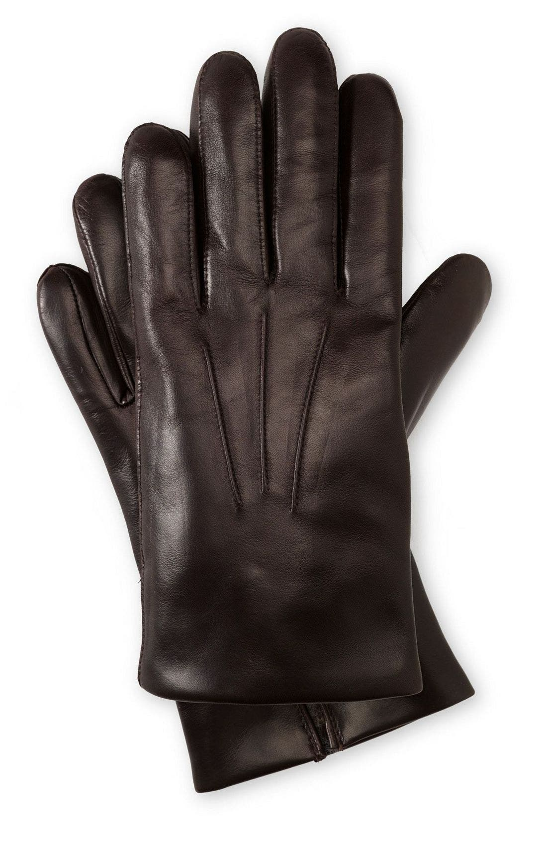 Alternate Image 1 Selected - John W. Nordstrom® Cashmere Lined Leather Gloves