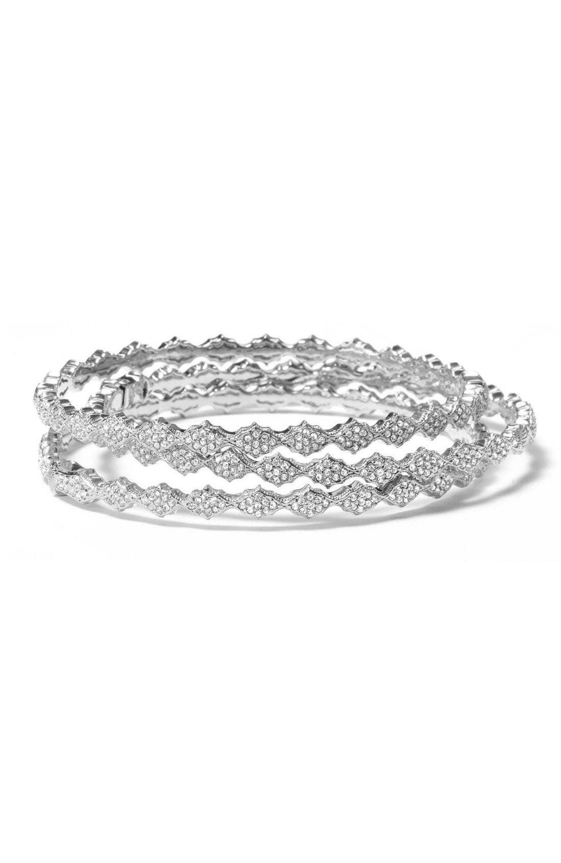 Alternate Image 1 Selected - Nadri Crystal Filigree Bangle Bracelet