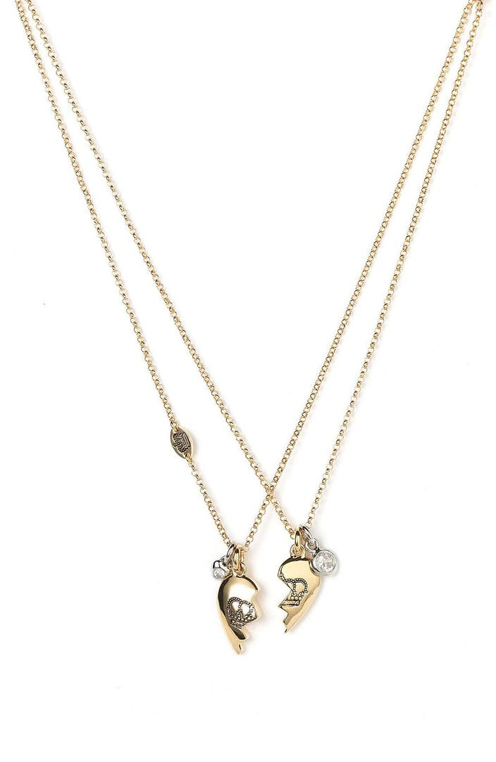 Juicy couture 39 best friends forever 39 split heart necklaces for Juicy couture jewelry necklace