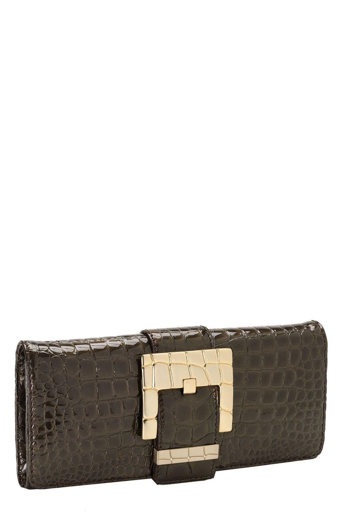 Main Image - MICHAEL Michael Kors 'Peninsula - Patent Croc' Clutch