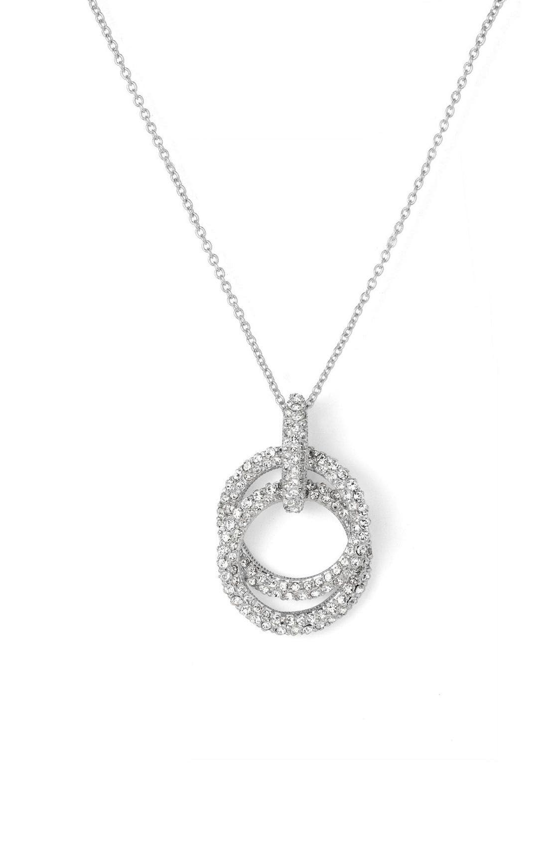 Alternate Image 1 Selected - Nadri Double Ring Pendant Necklace