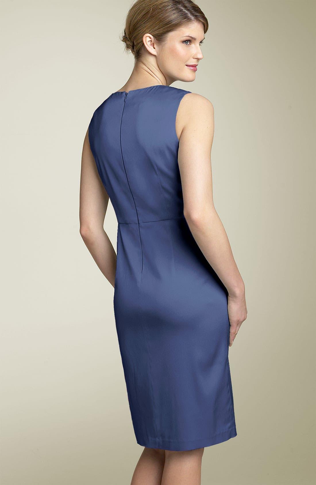 Alternate Image 2  - Donna Ricco Split Neck Sheath Dress