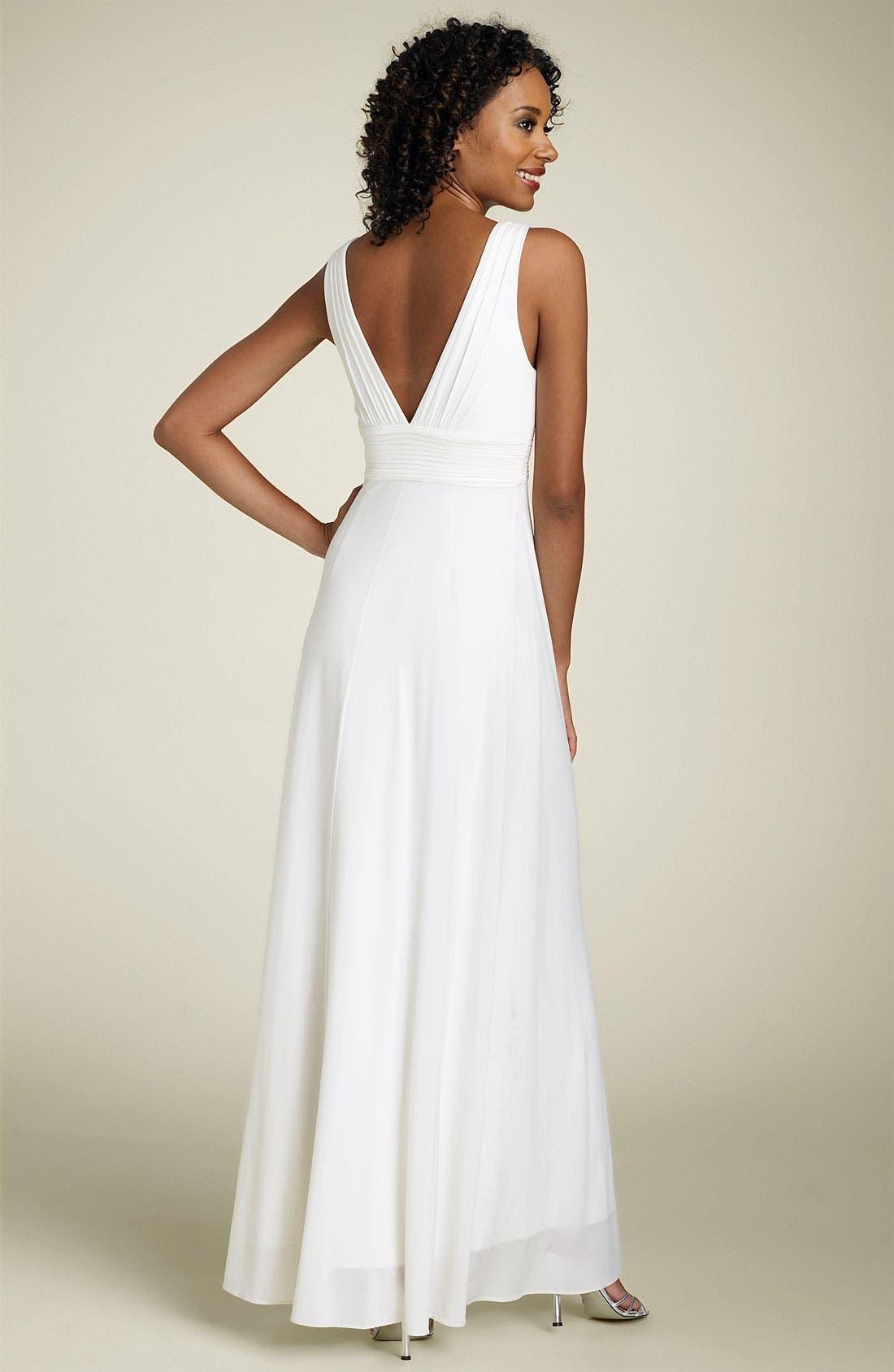 Alternate Image 2  - BCBGMAXAZRIA Jeweled Jersey Gown
