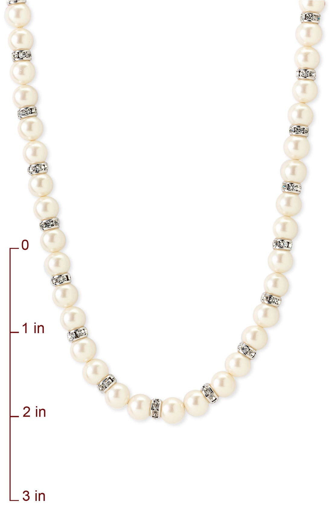 Alternate Image 2  - Nordstrom 8mm Glass Pearl Necklace
