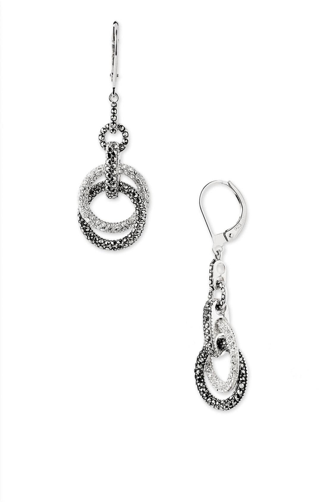 Alternate Image 1 Selected - Judith Jack Double Circle Drop Earrings