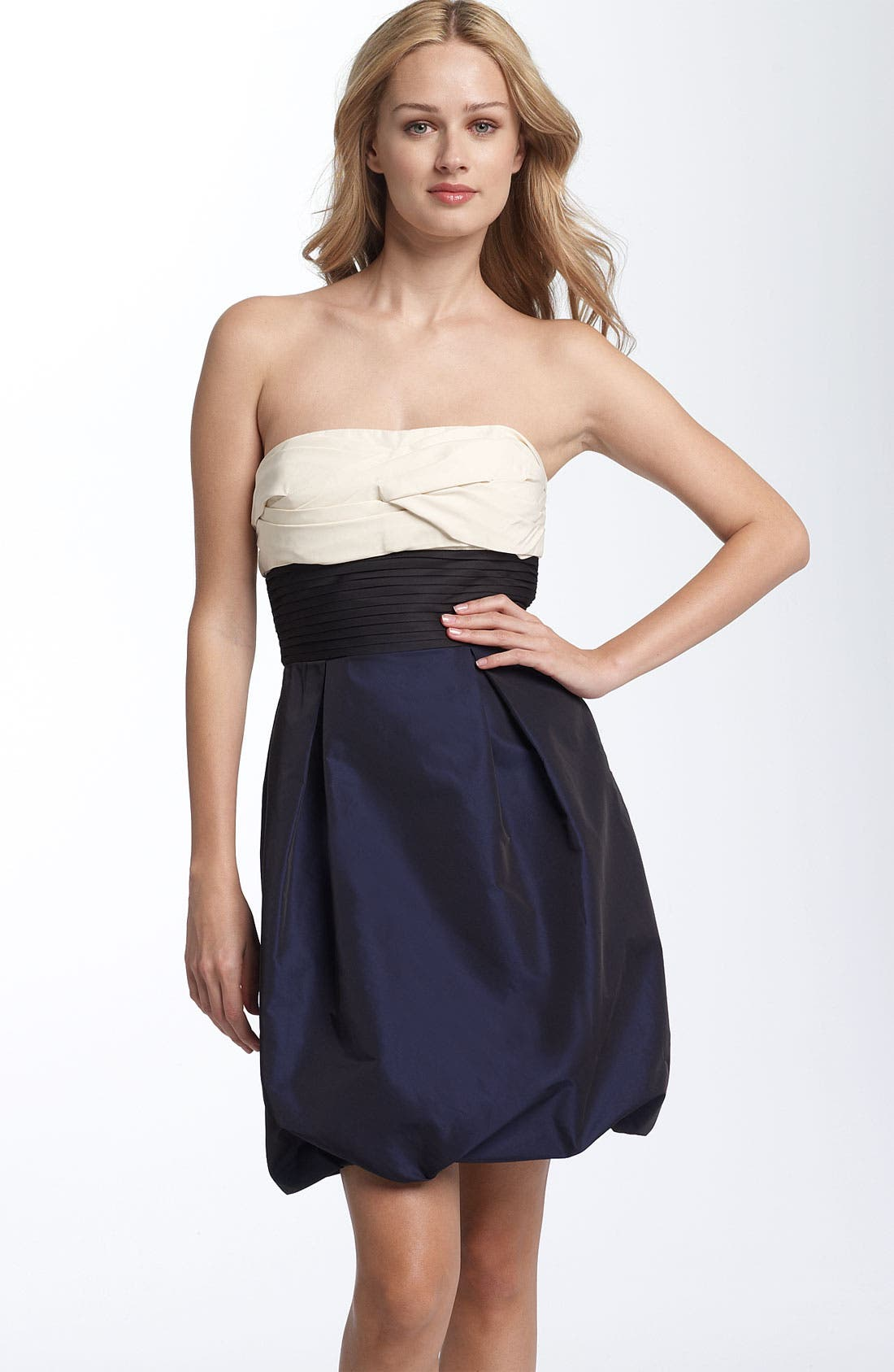 Alternate Image 1 Selected - BCBGMAXAZRIA Colorblocked Strapless Dress