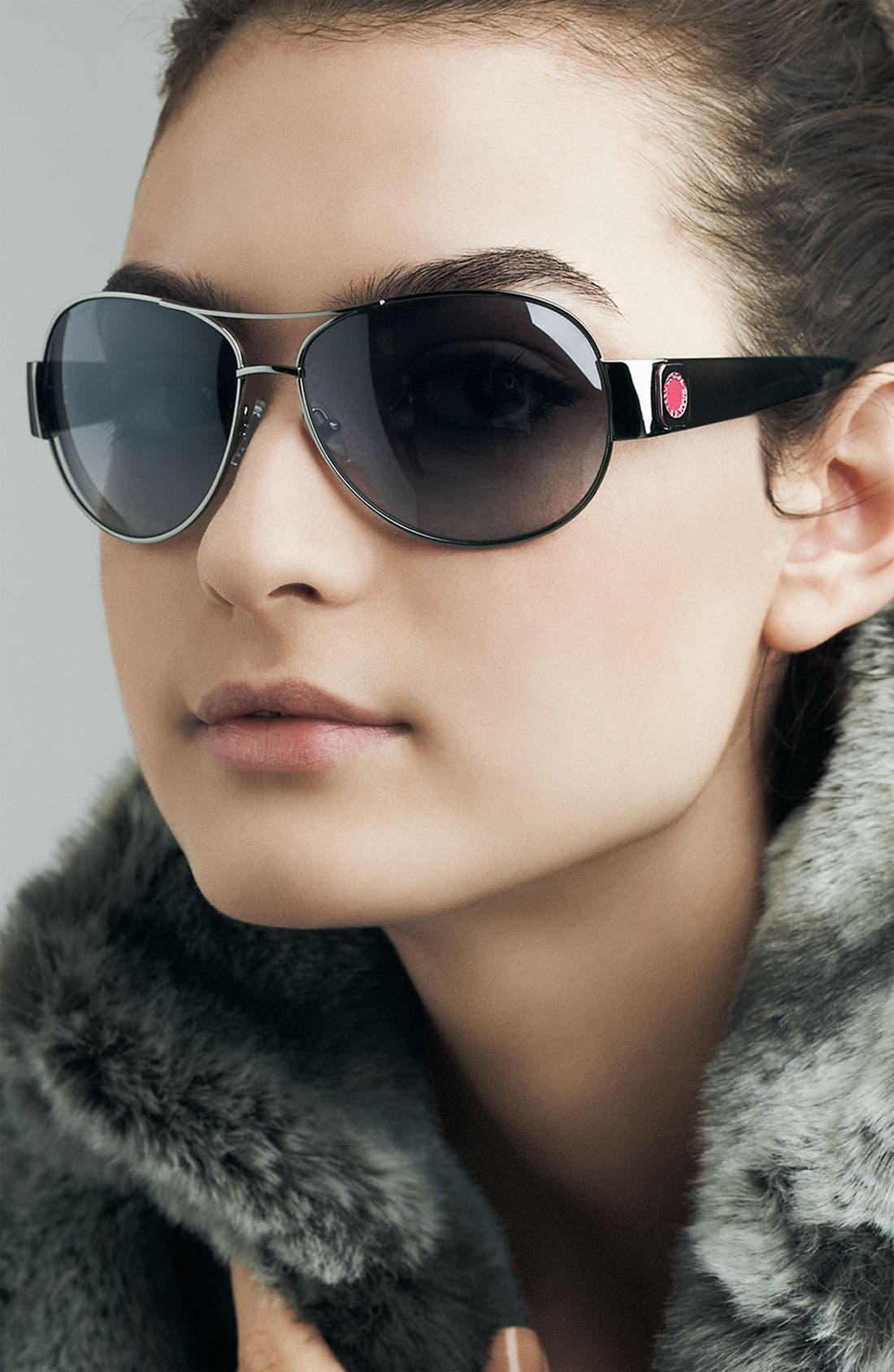 Alternate Image 2  - MARC BY MARC JACOBS 60mm Metal Aviators with Resin Temples