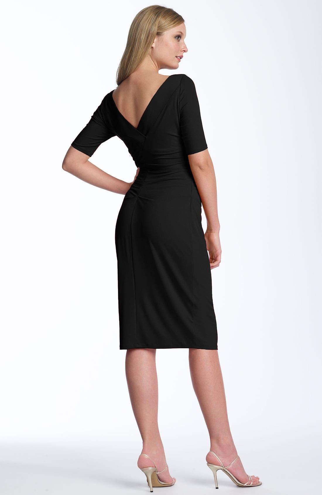 Alternate Image 2  - Maggy London Matte Jersey Sheath Dress