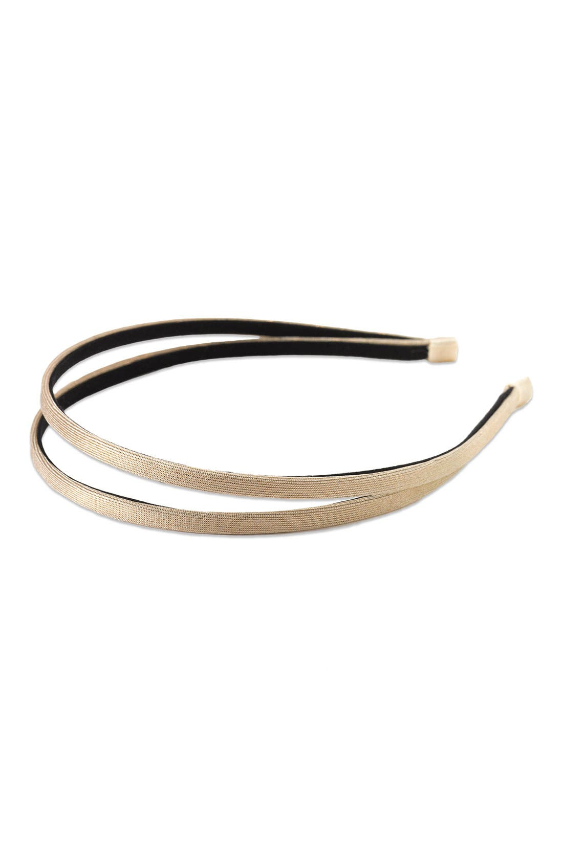 Main Image - Tasha Double Metallic Headband
