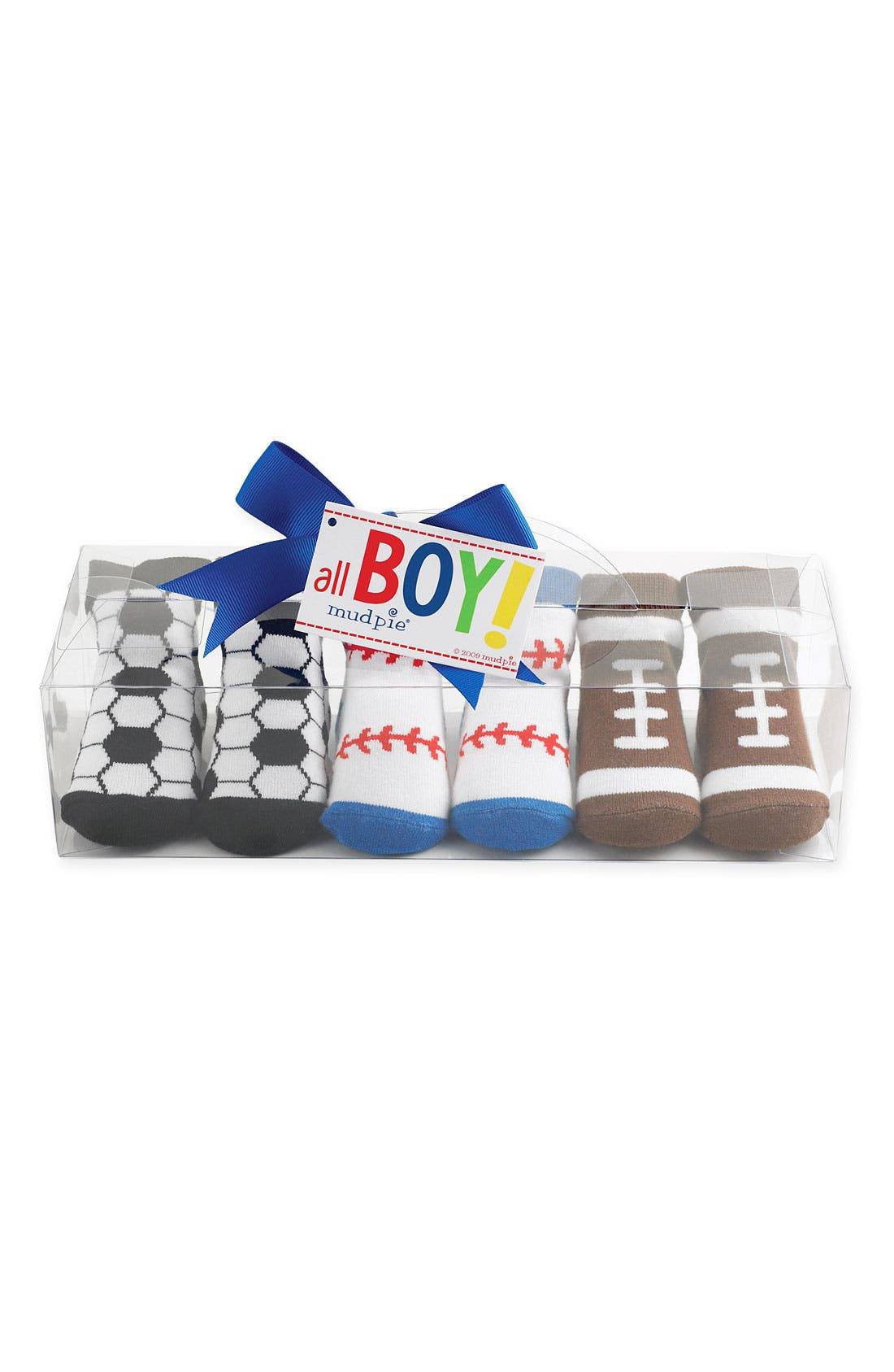 Alternate Image 1 Selected - Mud Pie Socks Set (3-Pack) (Baby Boys)