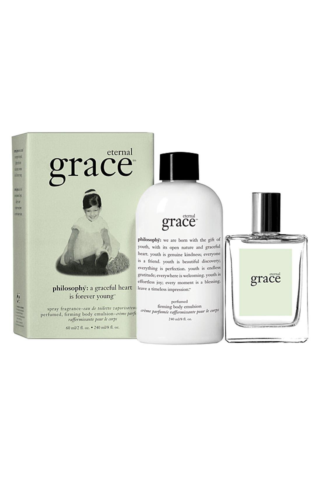 Main Image - philosophy 'eternal grace' spray fragrance & firming body emulsion ($62 Value)