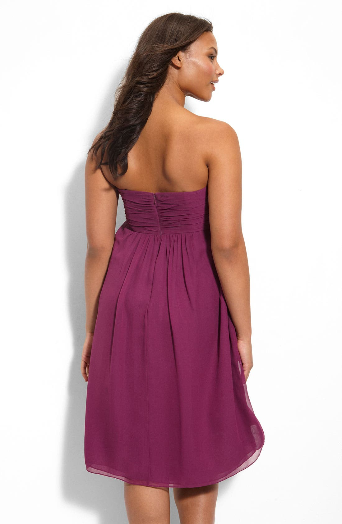 Alternate Image 2  - Suzi Chin for Maggy Boutique Ruched Bodice Strapless Dress (Plus)