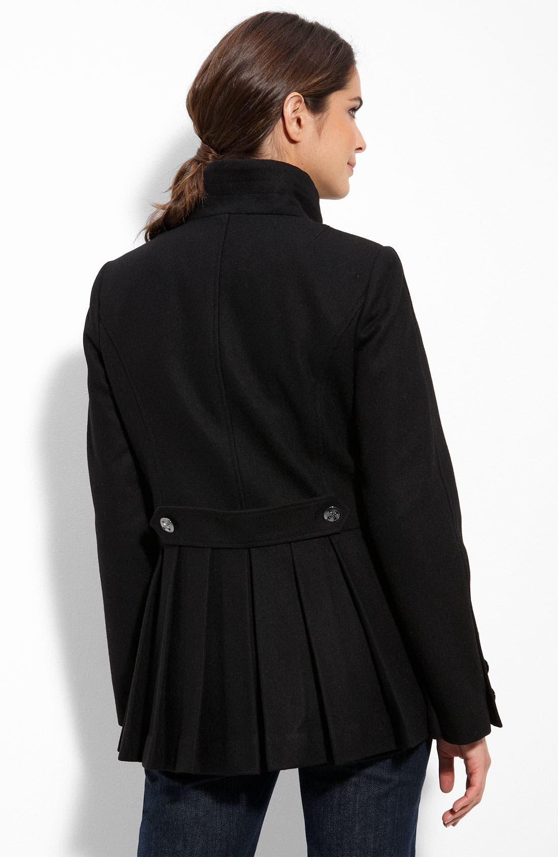 Alternate Image 2  - Calvin Klein Military Inspired Wool Blend Coat