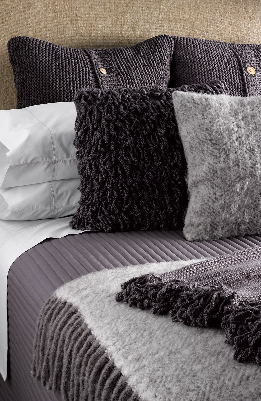 Alternate Image 2  - Nordstrom Chunky Knit Euro Pillow Sham