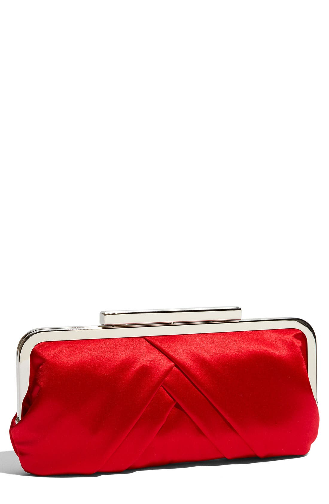 Alternate Image 1 Selected - Glint Pleated Frame Clutch