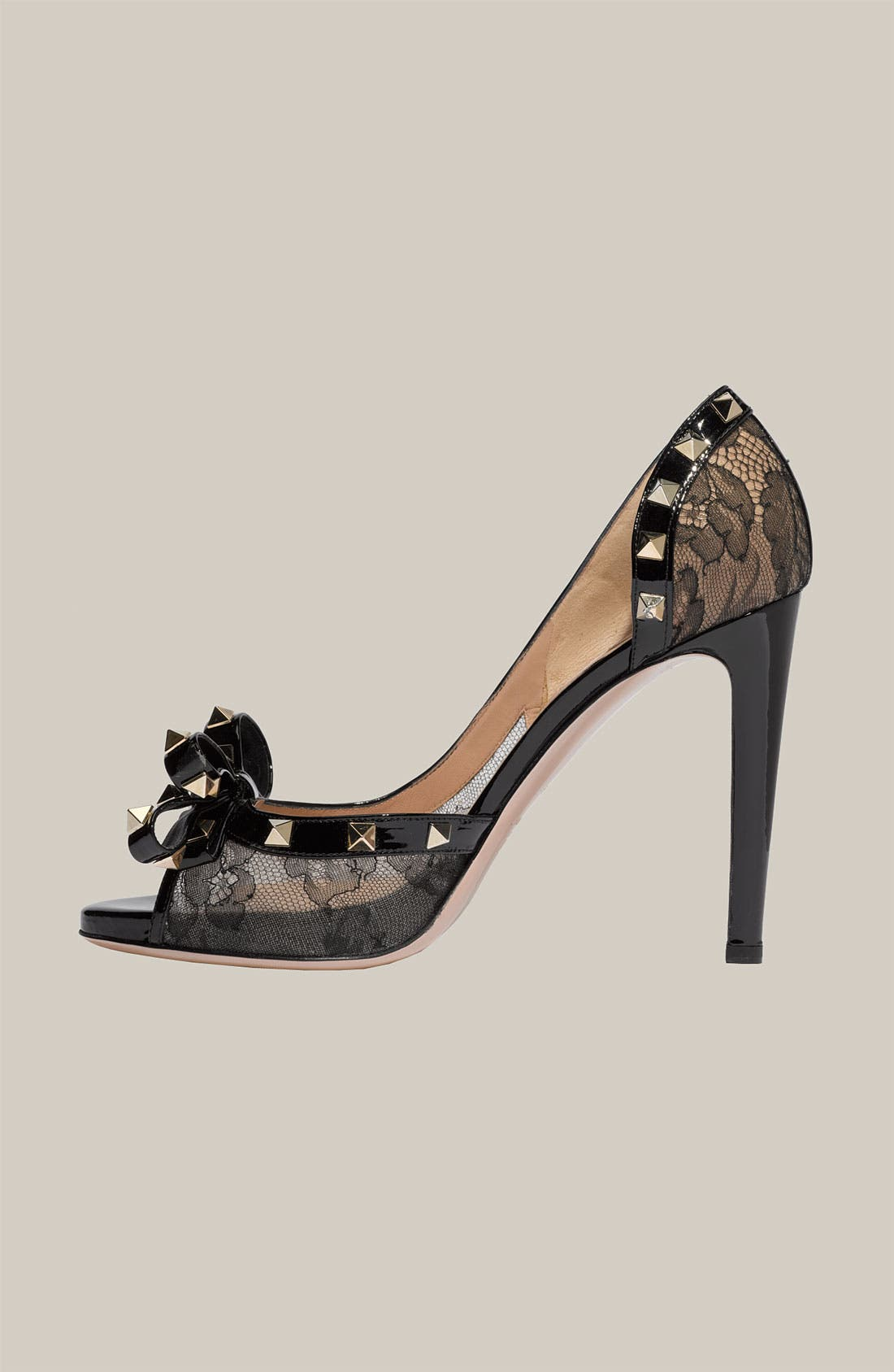 Alternate Image 2  - Valentino 'Rockstud' Lace d'Orsay Pump