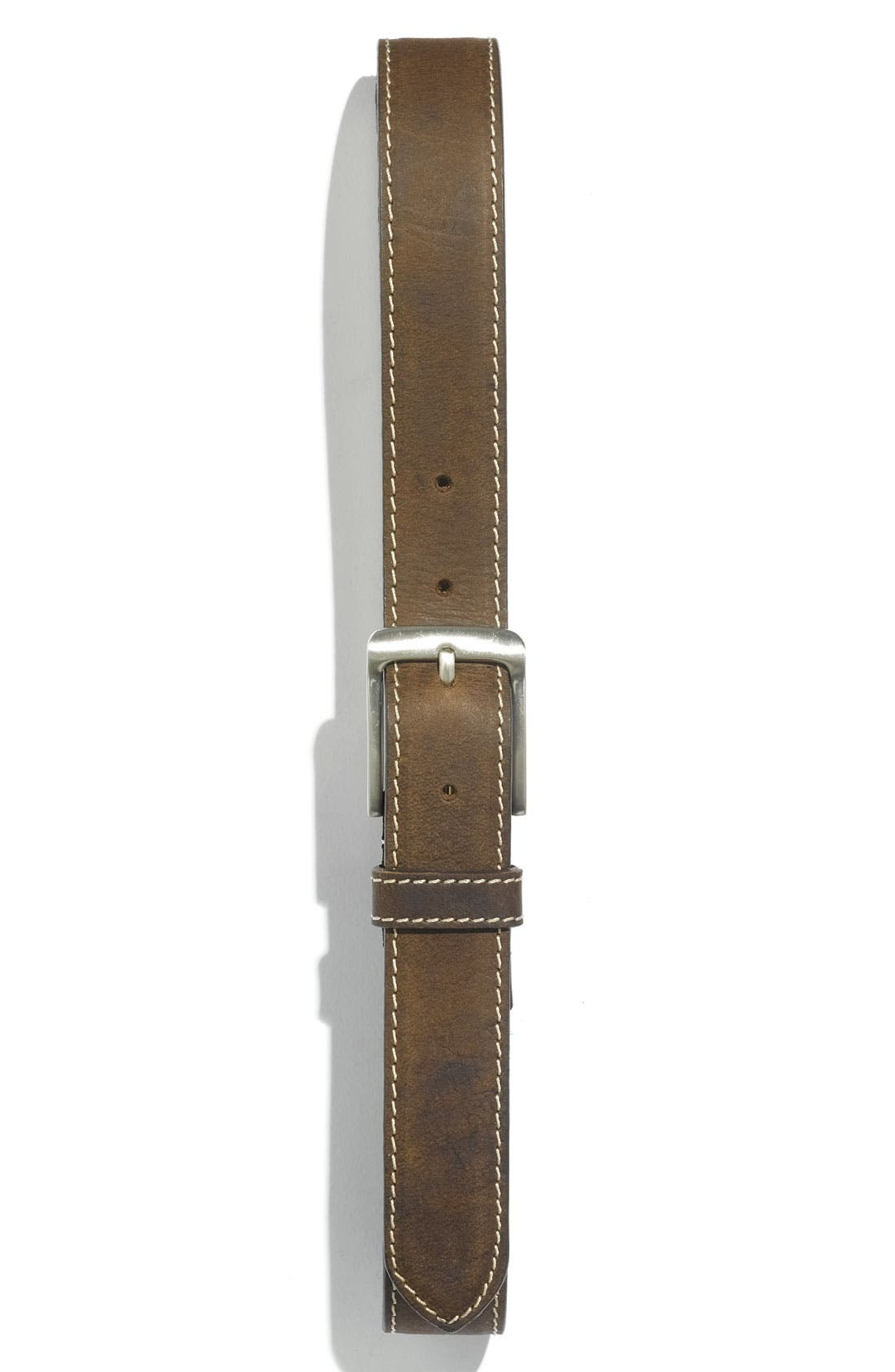 Alternate Image 1 Selected - Joseph Abboud Leather Belt (Big Boys)
