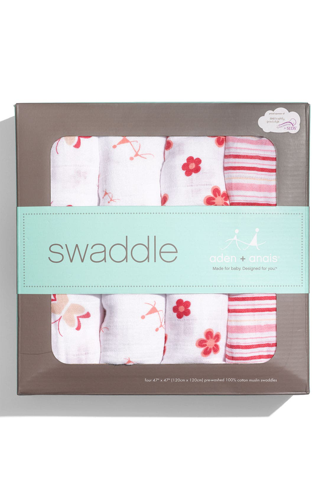 Alternate Image 3  - aden + anais Set of 4 Classic Swaddling Cloths