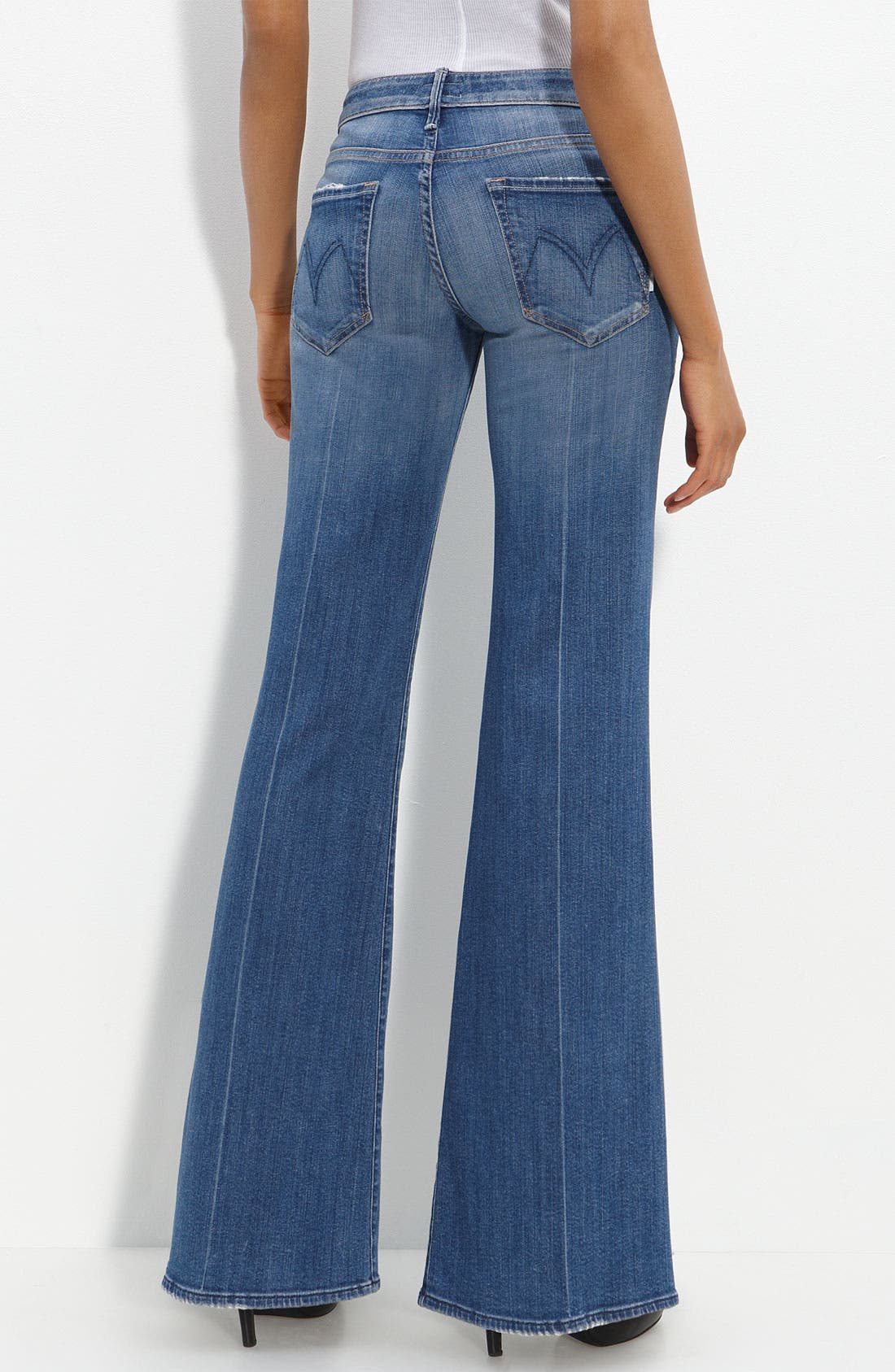 Alternate Image 1 Selected - MOTHER 'The Wilder' Flare Leg Stretch Jeans (Medium Kitty Wash)