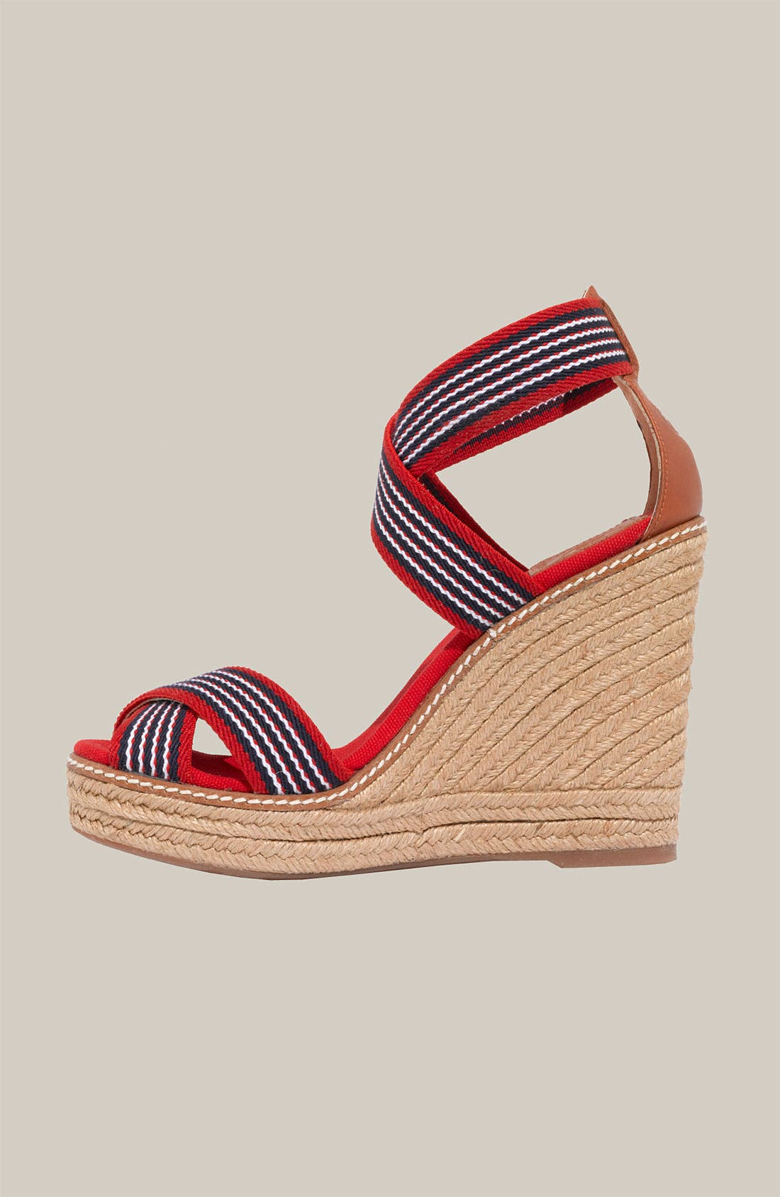 Alternate Image 2  - Tory Burch Stripe Elastic Strap Espadrille