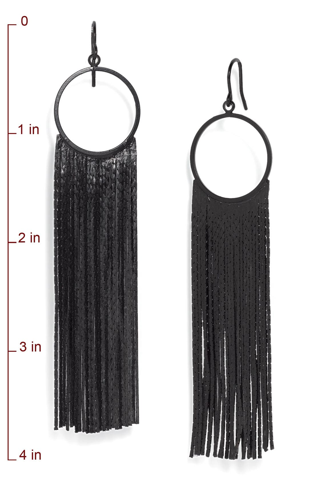 Alternate Image 2  - Tarnish 'Brushed Metals' Circle Drop Fringe Earrings