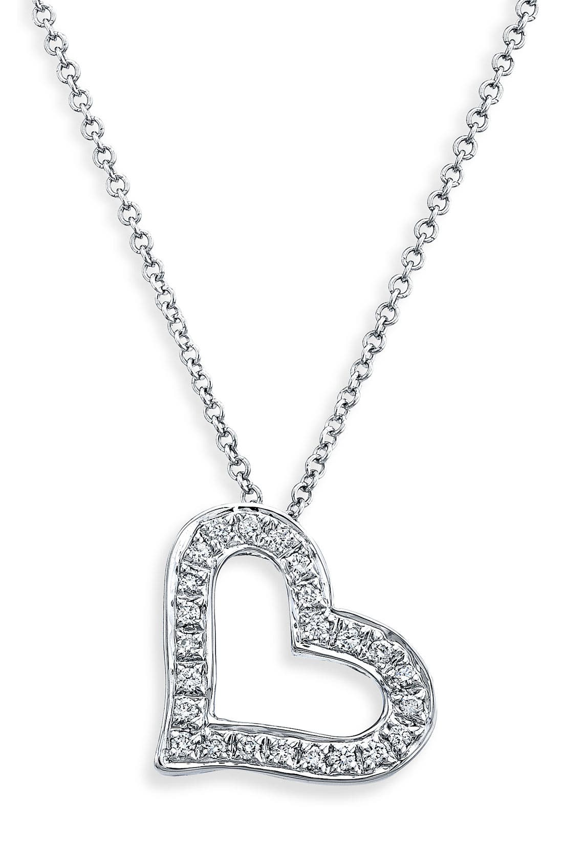 Main Image - Bony Levy Diamond Heart Necklace (Nordstrom Exclusive)