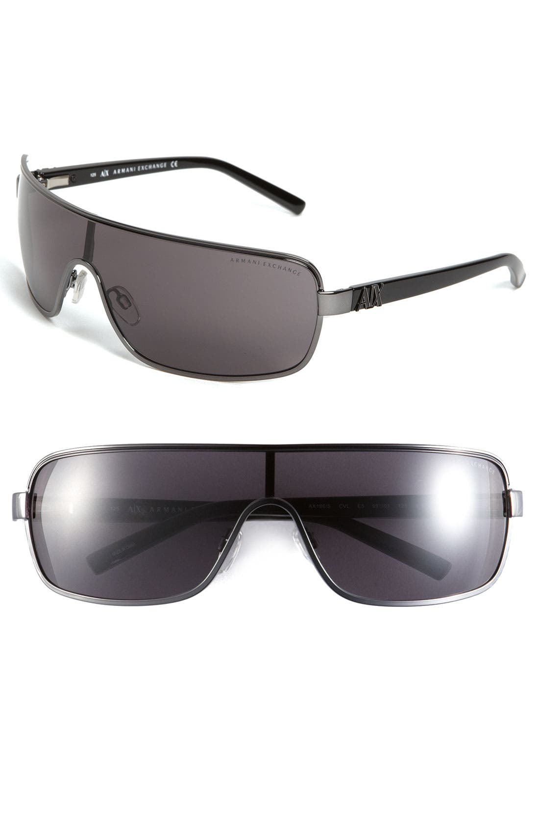 Alternate Image 1 Selected - AX Armani Exchange Shield Sunglasses