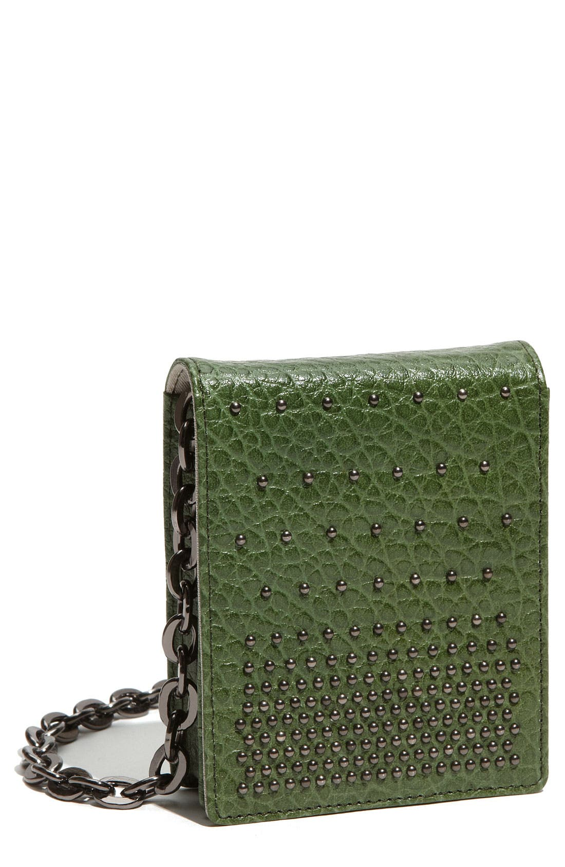 Alternate Image 1 Selected - Nordstrom Studded Mini Leather Crossbody Bag