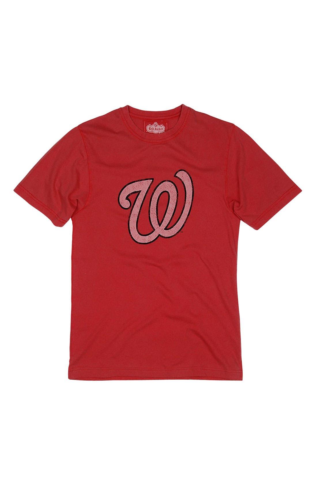 Alternate Image 4  - Red Jacket 'Washington Nationals' Trim Fit T-Shirt (Men)